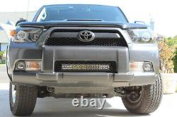 20 120W LED Light Bar with Behind Grille Mounts, Wiring For 10-13 Toyota 4Runner