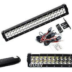 20 120W LED Light Bar with Behind Grille Mounts, Wiring For 17-up Honda Ridgeline