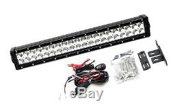 20 120W LED Light Bar with Behind Grille Mounts, Wiring For 2015-up Jeep Renegade