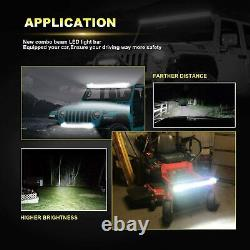 52inch 700W Curved LED Light Bar +22'' +4'' Pods Offroad Fits Jeep Truck SUV 4WD
