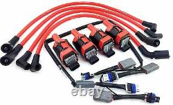 Adapter Wiring Harness Corvette Coil Packs + 10mm Wires Fits 2004-2011 Rx-8 Rx8