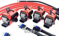 D585 Uf262 Ignition Coil Packs 10mm Wires Fits Rx-8 Rx8 Adapter Wiring Harness