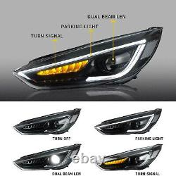 Fits 2015-2018 Ford Focus LED Headlights withDRL Sequential Turn Sig. Assembly