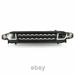 Fits for Toyota 07-14 FJ Cruiser With DRL LED Headlights + Black Grille Assembly