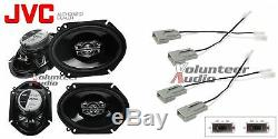 JVC CS-DR6820 6X8 2-Way Speakers With Wiring Harness Fits Ford 2 Pairs 45 Watt Rms