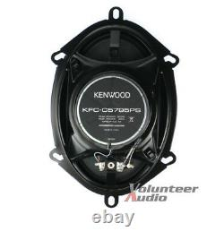 Kenwood KFC-C5795PS 5X7 Speakers With Wiring Harness Fits Ford 2 Pairs