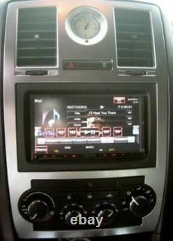 Silver Double Din Radio Dash Kit CANBus Steering Control Fits Chrysler 300